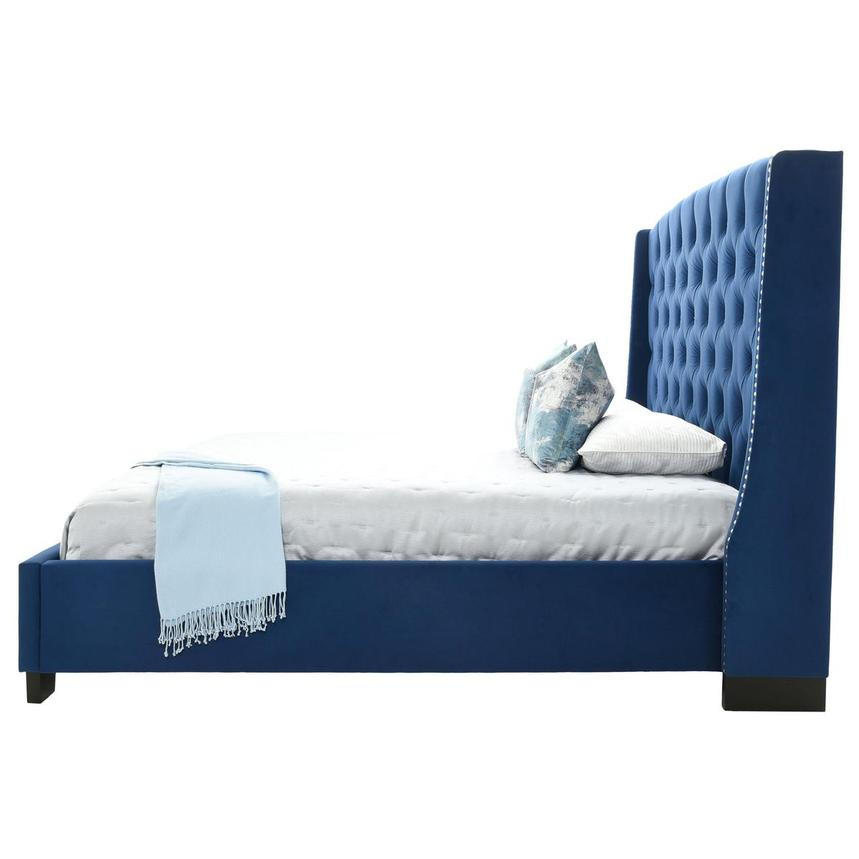 Majestic II Blue King Platform Bed  alternate image, 5 of 8 images.