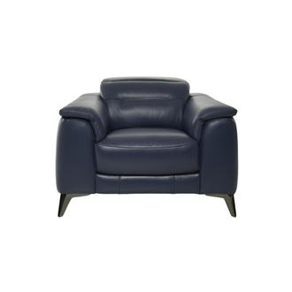 Anabel Blue Leather Chair
