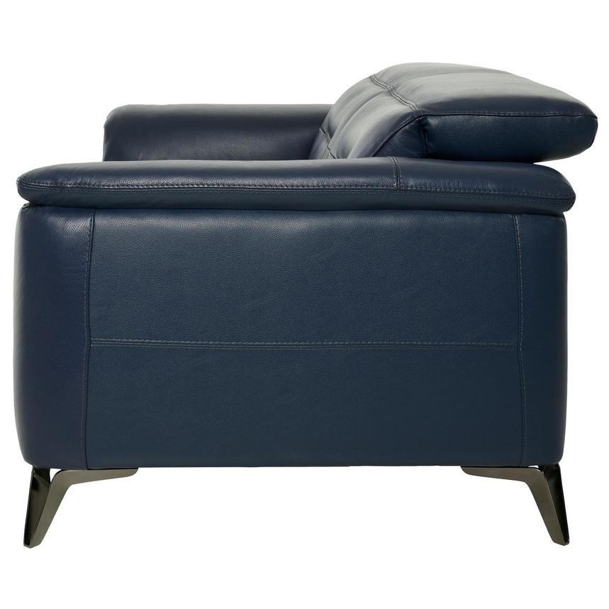 Anabel Blue Leather Loveseat  alternate image, 4 of 10 images.