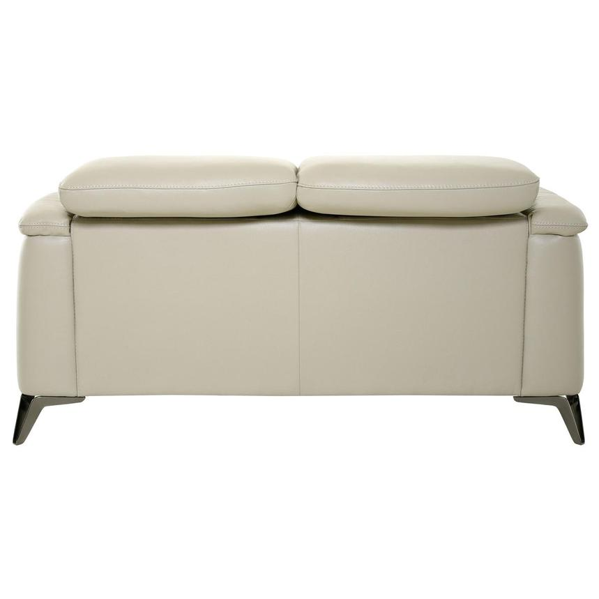 Anabel Cream Leather Loveseat  alternate image, 5 of 11 images.