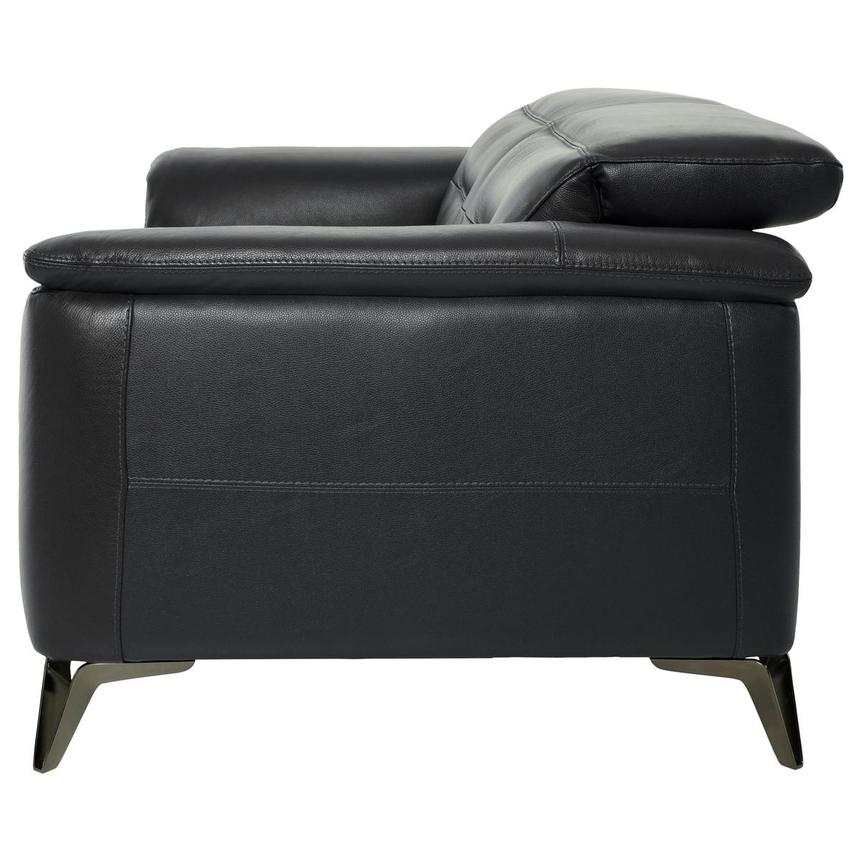 Anabel Gray Leather Loveseat  alternate image, 4 of 10 images.
