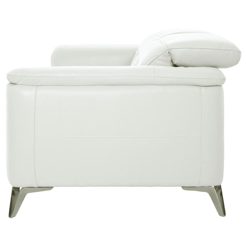 Anabel White Leather Loveseat  alternate image, 4 of 10 images.