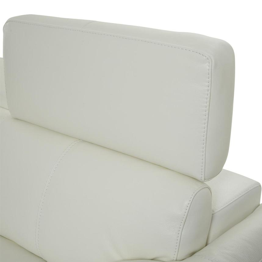 Charlie White Leather Loveseat  alternate image, 6 of 10 images.