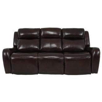 Jake Brown Leather Power Reclining Sofa