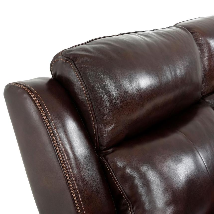 Jake Brown Leather Power Reclining Sofa  alternate image, 10 of 14 images.