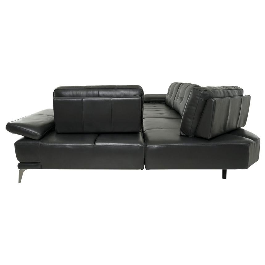 Shale Dark Gray Leather Sectional Sofa  alternate image, 4 of 12 images.
