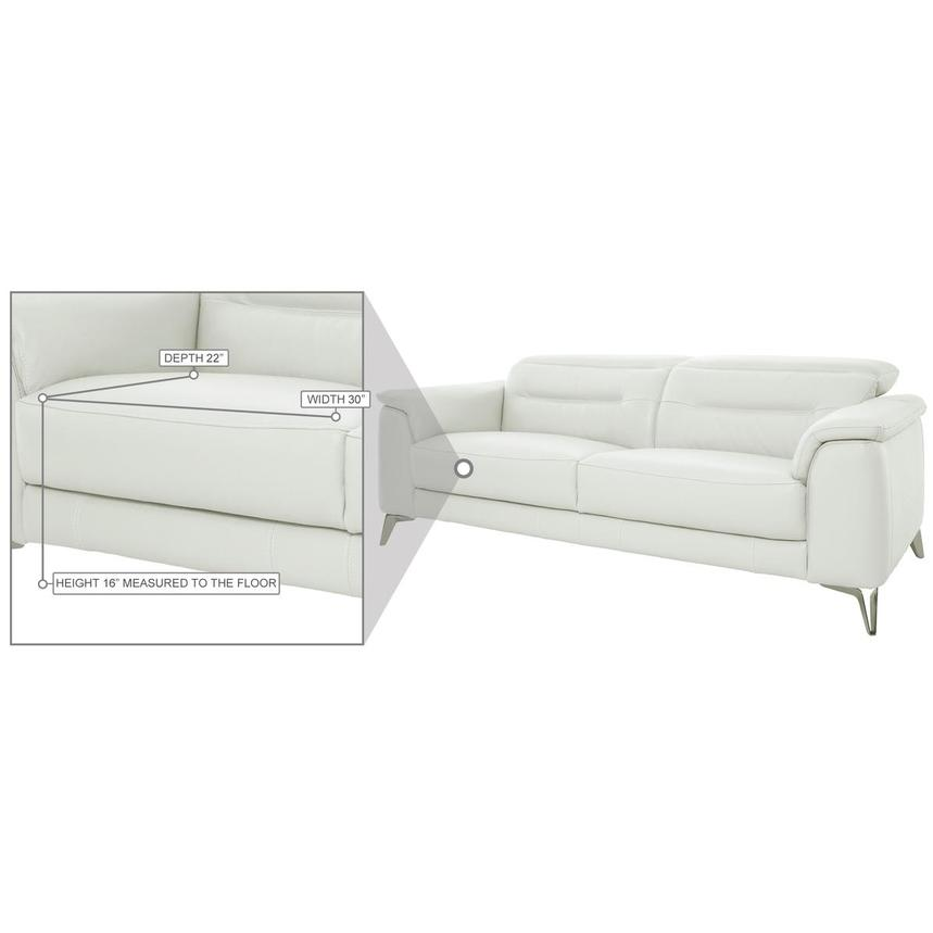 Anabel White Leather Sofa  alternate image, 10 of 11 images.