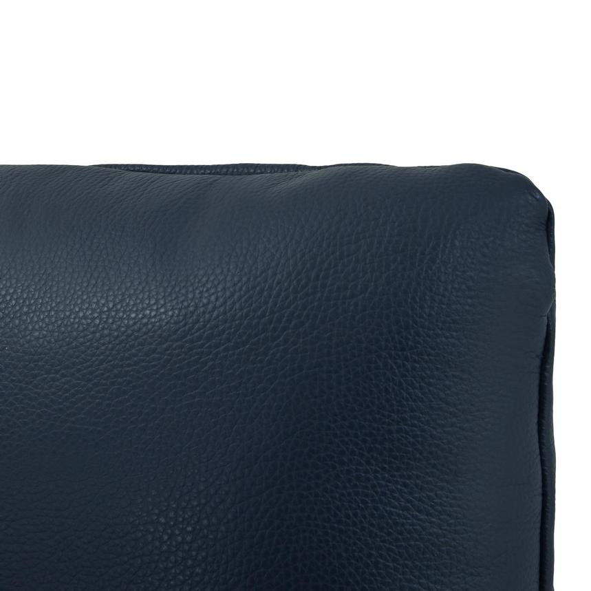 Cute Blue Leather Swivel Chair w/2 Pillows  alternate image, 10 of 11 images.