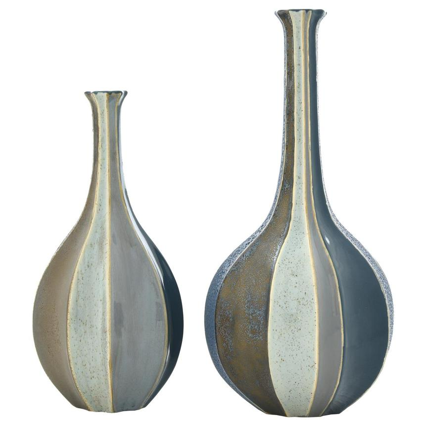 Corinne Blue Set of 2 Vases  main image, 1 of 2 images.