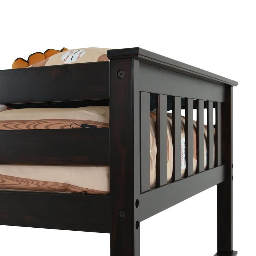 Ayden Espresso Twin Over Full Bunk Bed  alternate image, 5 of 7 images.