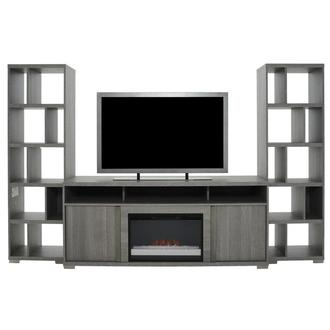Tivo Gray Wall Unit w/Electric Fireplace