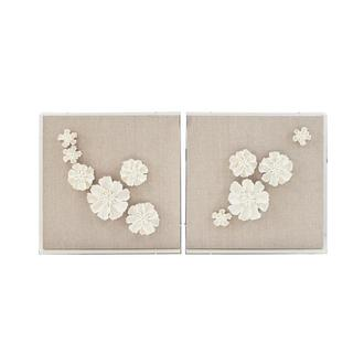 Fiore Bianco Set of 2 Wall Decor