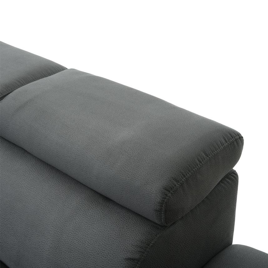 Ilias Gray Corner Sofa w/Right Chaise  alternate image, 6 of 10 images.