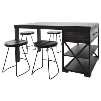 Everett 5-Piece Counter Dining Set