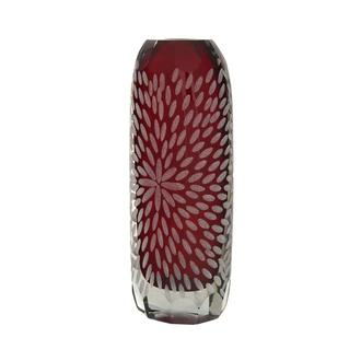 Sparks Red Glass Vase