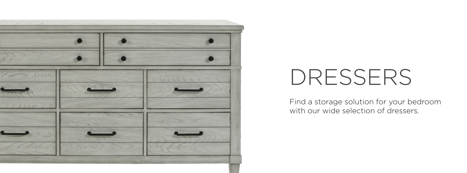 Dressers. Find a storage solution for your bedroom with our wide selection of dressers.