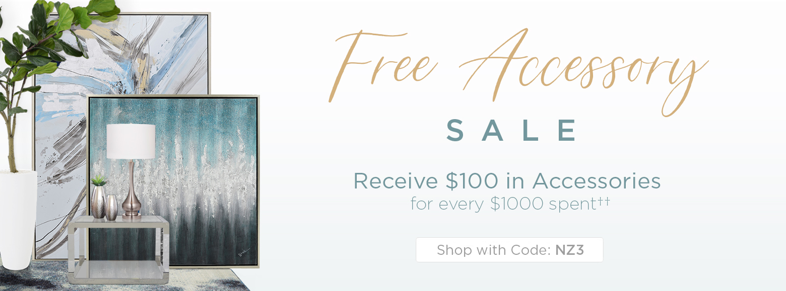 Free Accessory Offer. Get $100 in Accessories for every $1000 spent